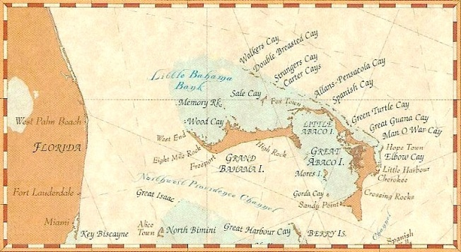 Abaco Cays Map (Tara Claridge FB)
