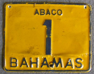 Abaco License Plate 1
