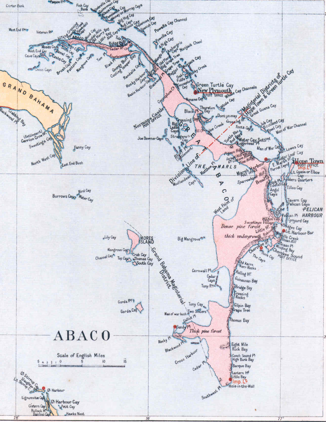 ABACO MAPS  ROLLING HARBOUR ABACO