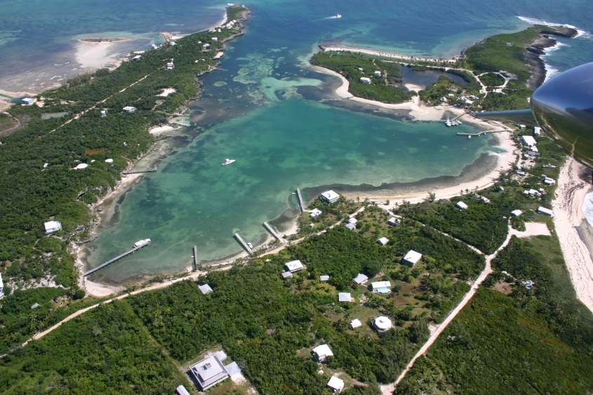 Little Harbour, Abaco Bahamas - Aerial View (π Rolling Harbour)