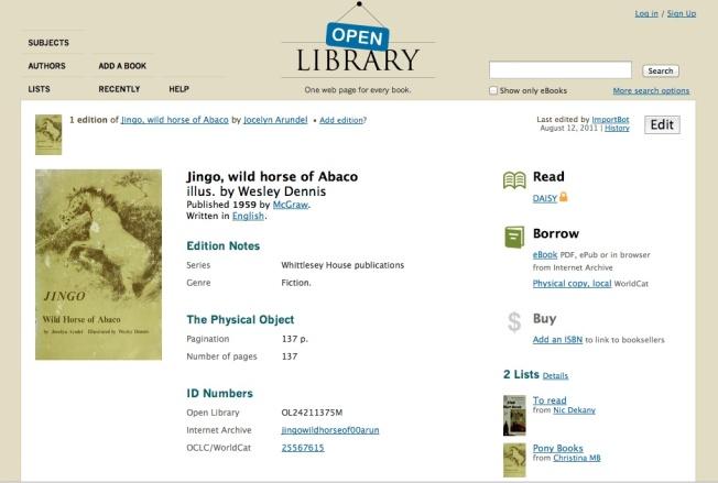 Jingo - Wild Horse of Abaco
