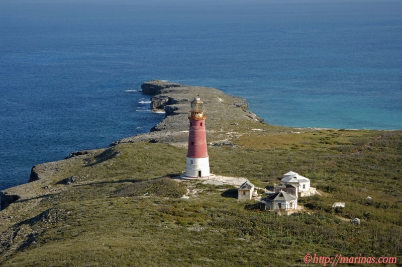 Hole-in-the-Wall Lighthouse, Abaco annotated