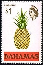 BAHAMAS PINEAPPLE STAMP