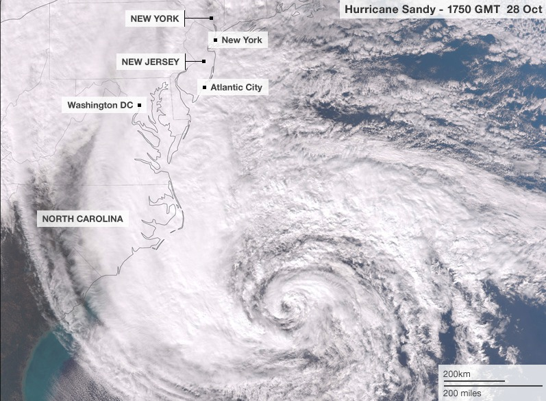 hurricane sandy from space station - photo #7