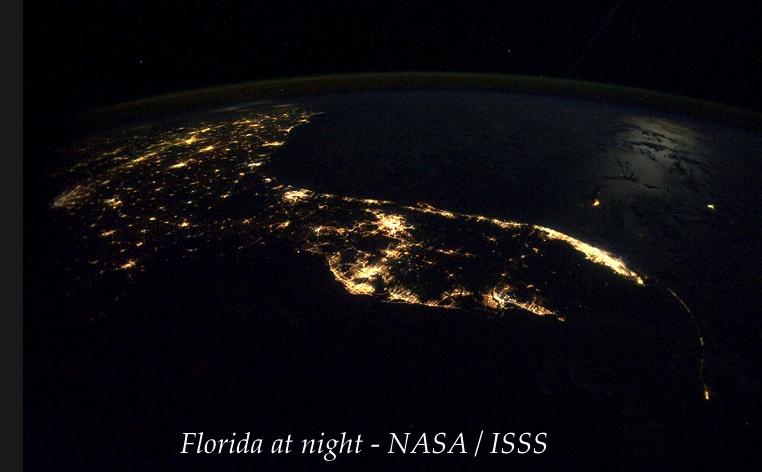 Florida at night- NASA : ISSS