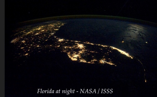 Florida at night- NASA : ISSS