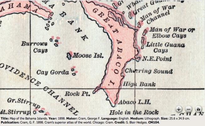Abaco 1898 George Cram