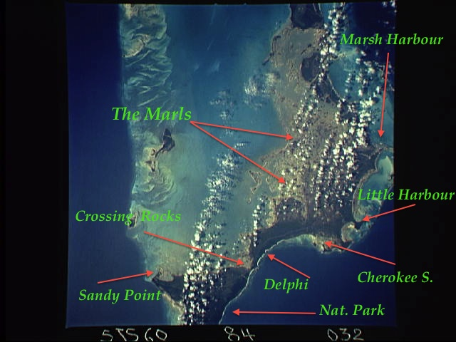 Abaco Map NASA:ISSA annotated