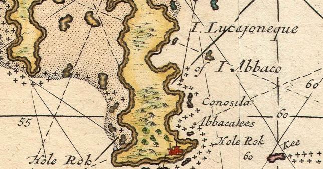 Map of Abaco (part) - van Keulen 1728