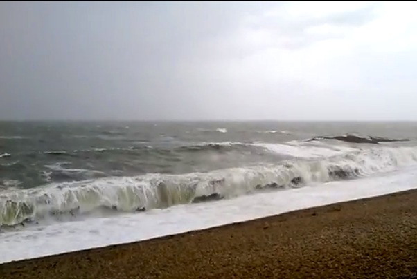 Storm Jude Chesil Beach
