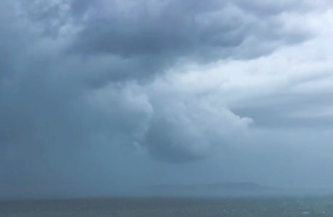 Storm Jude massing off Dorset coast