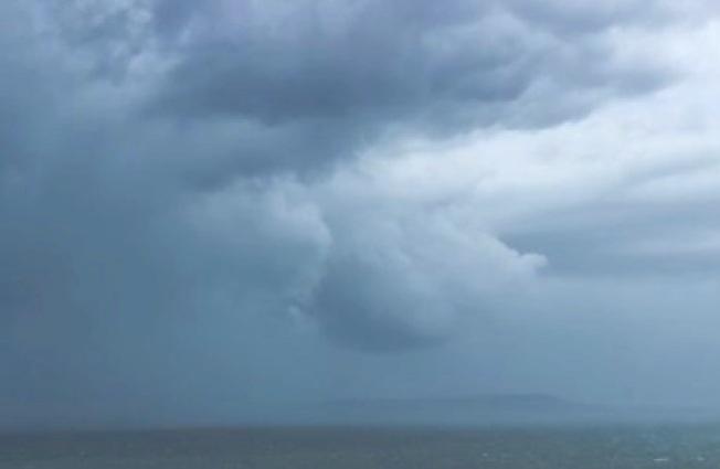 Storm Jude massing off Dorset coast