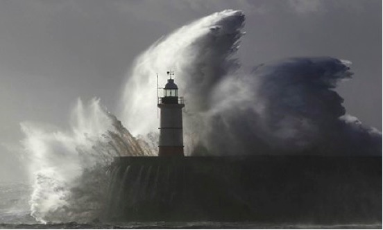 Storm Jude Newhaven Lighthouse