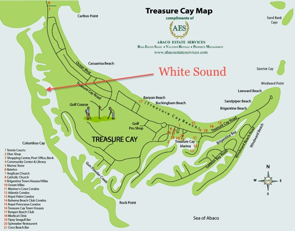 Treasure Cay Map