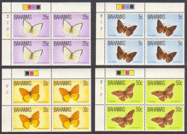 Bahamas Butterfly Stamps