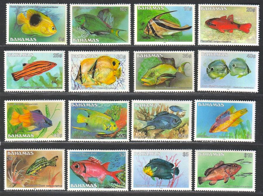 Bahamas Reef Fish Stamps