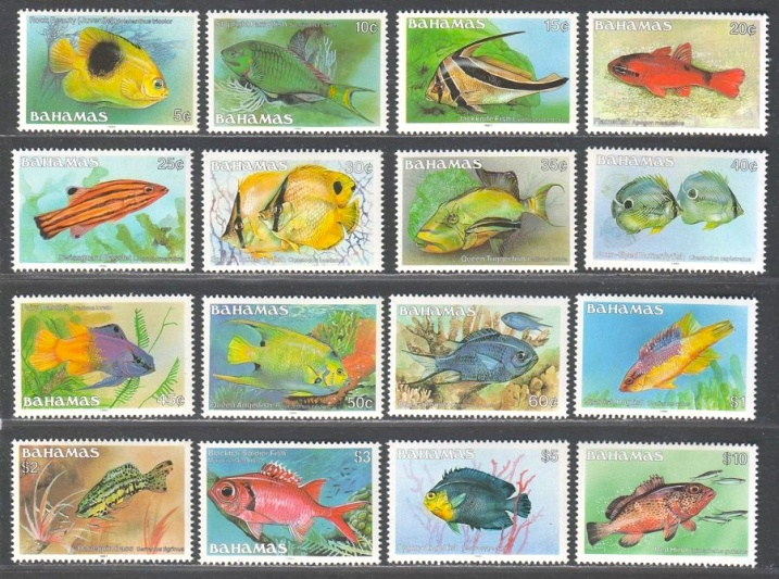Bahamas Reef Fish Stamps