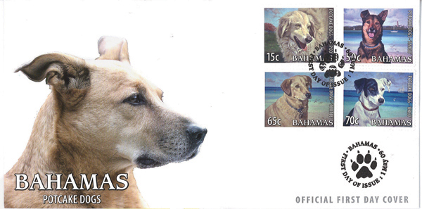 Bahamas Potcake Stamps (First Day Cover)