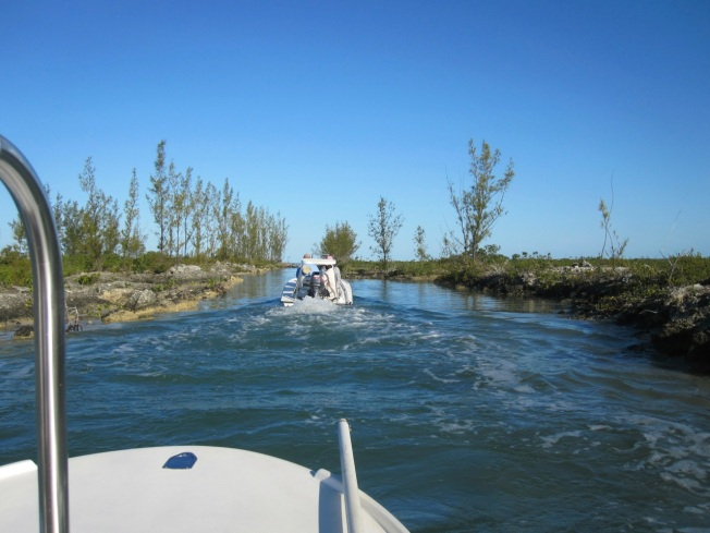 Nettie's Point, Abaco - the cut to the sea