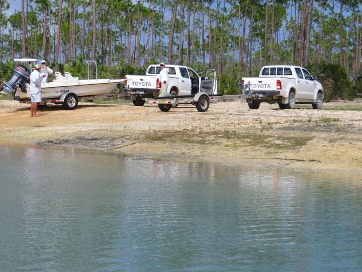 Nettie's Point, Abaco - Trucks & Skiffs