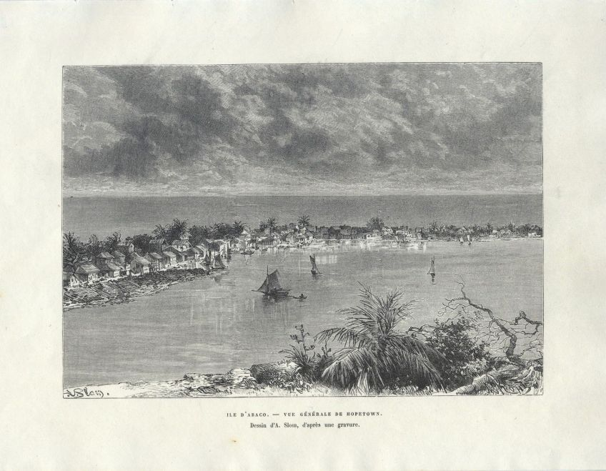 Ile d'Abaco - Vue generale de Hopetown 1878 - Slom