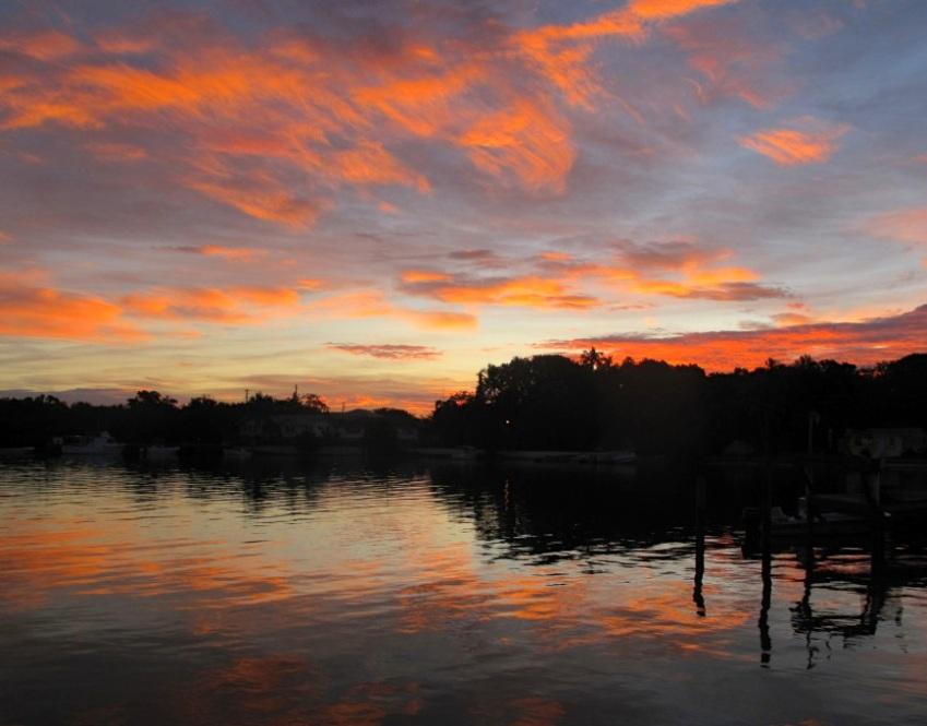 Sunrise over Settlement Creek, Green Turtle Cay (Amanda Diedrick)