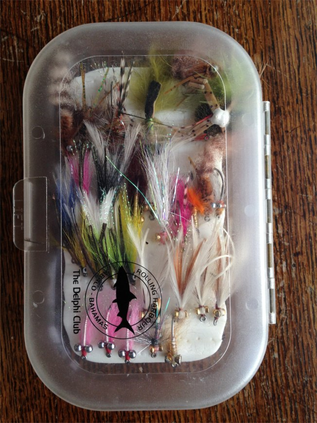 A Box of Bonefish Flies (Abaco)