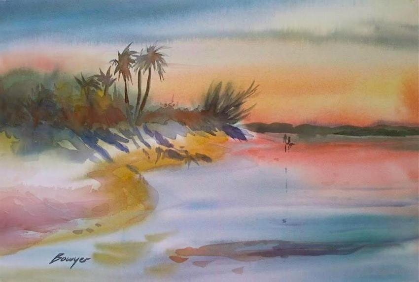 Elbow Cay beach scene - Brigitte Bowyer