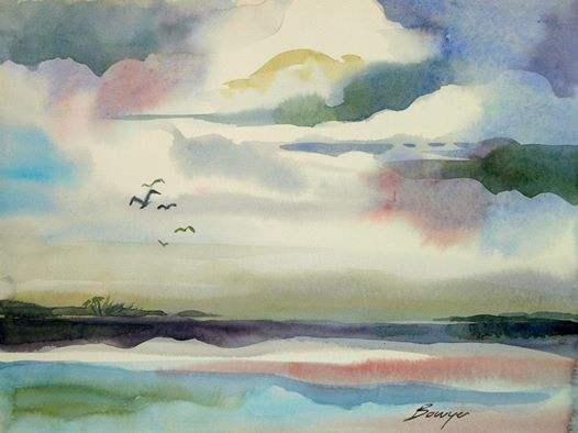 Before Night Falls - Brigitte Bowyer Carey - Island Watercolors