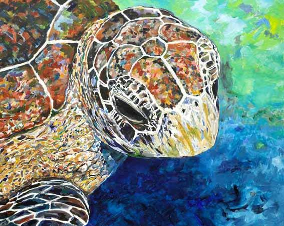Sea Turtle (Kim Rody Art)