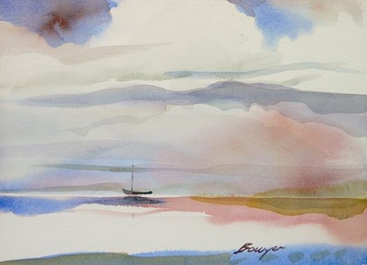 Morning Calm - Brigitte Bowyer Carey - Island Watercolors