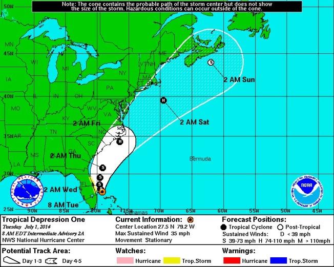 Tropical Storm Arthur NOAA 1