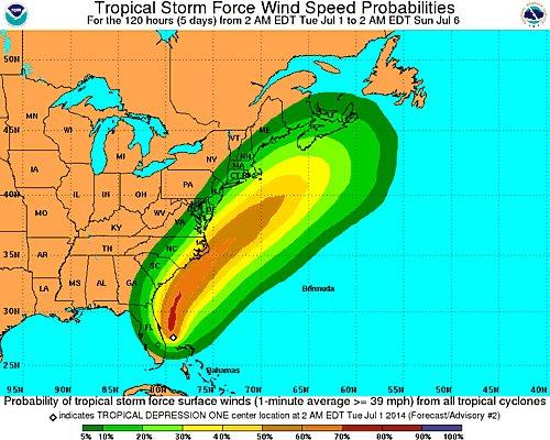 Tropical Storm Arthur NOAA 2