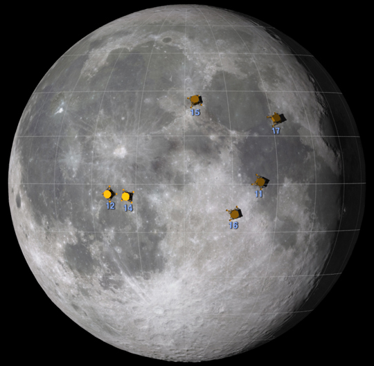 Apollo landing locator NASA