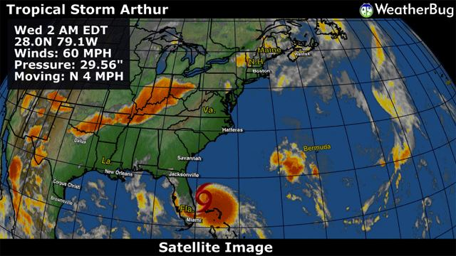 Tropical Storm Arthur Weatherbug 2