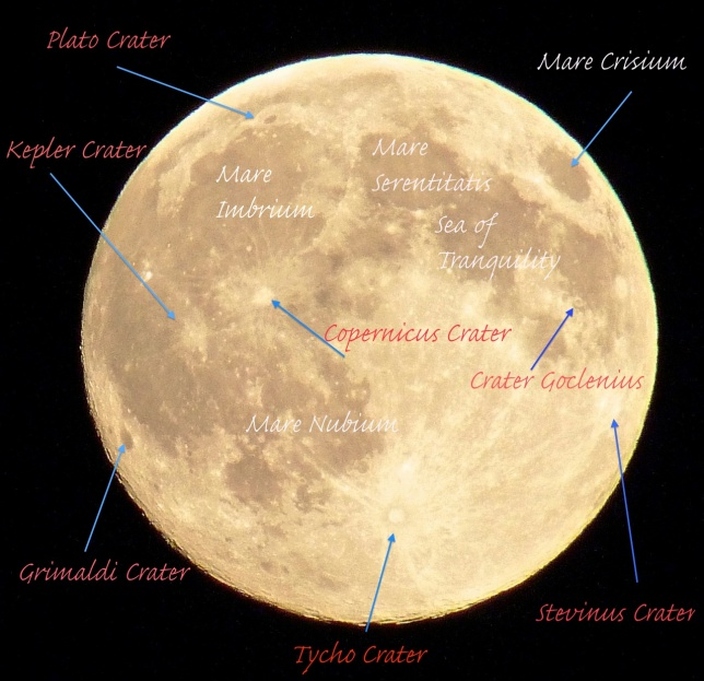 Supermoon marked map