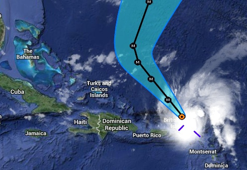 Hurricane Gonzalo Tracking Map  - clip jpg