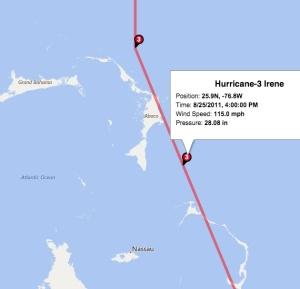 Hurricane Irene 2011 Bahamas Map Accu jpg
