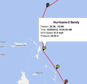 Hurricane Sandy Map Bahamas 2012 jpg