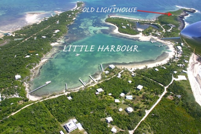 Little Harbour Abaco, Aerial View -Simon Rodehn annotated