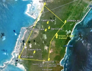 Abaco caves map jpg