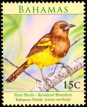 Bahama Oriole Stamp birdtheme.org