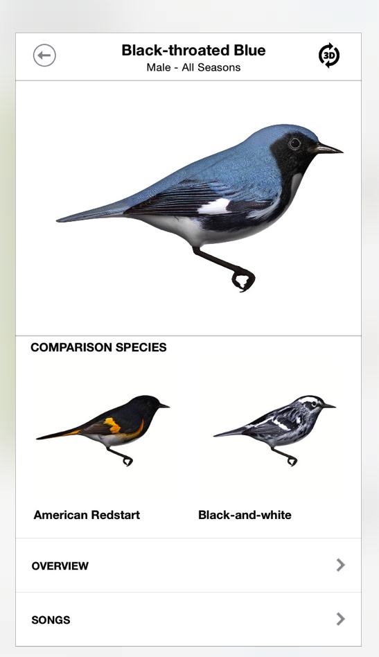 The Warbler Guide App (Princeton)