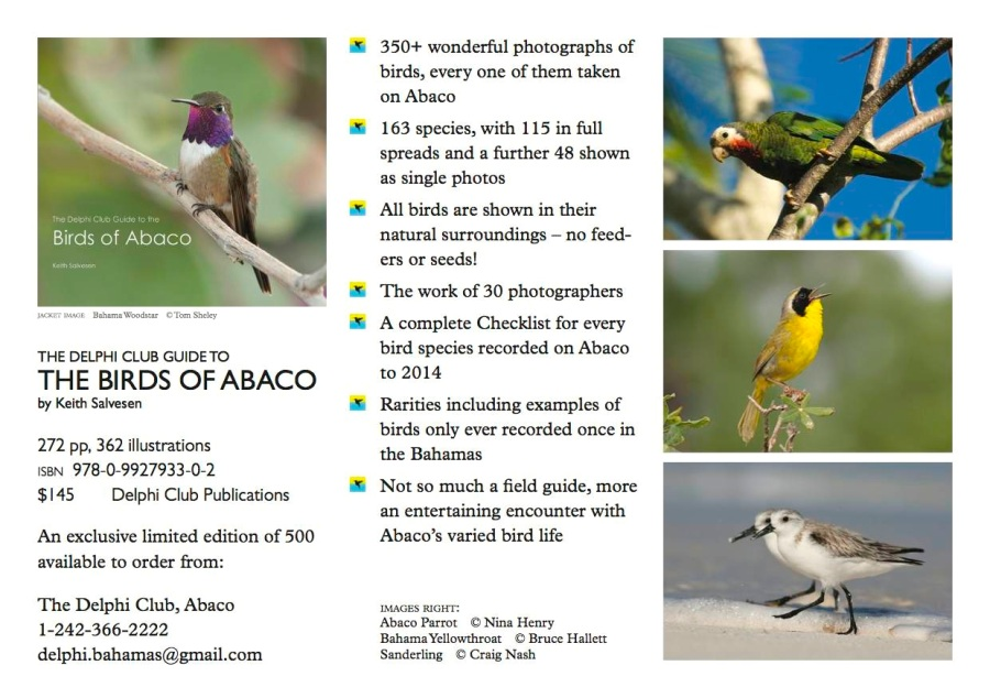 The Birds of Abaco by Keith Salvesen (flyer info)