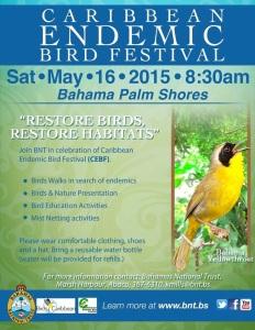Caribbean Endemic Bird Festival Flyer
