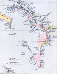 Shearwater Map, Abaco