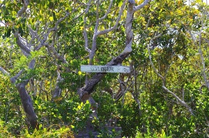 Soldier Road Sign, Hole-in-the-Wall Abaco