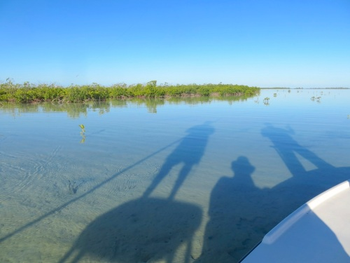 3 men on a skiff, Abaco Marls (Keith Salvesen : Rolling Harbour)