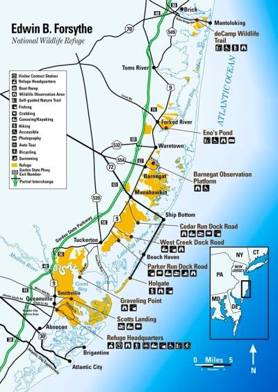 Edwin B Forsythe NWR map