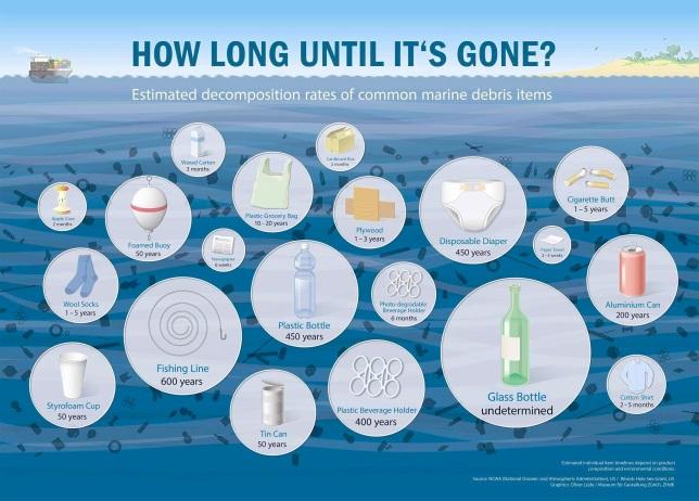 Plastic trash -5 Gyres Infographic